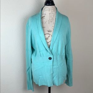 Anne Klein XL Aqua Chunky Button Cardigan Sweater